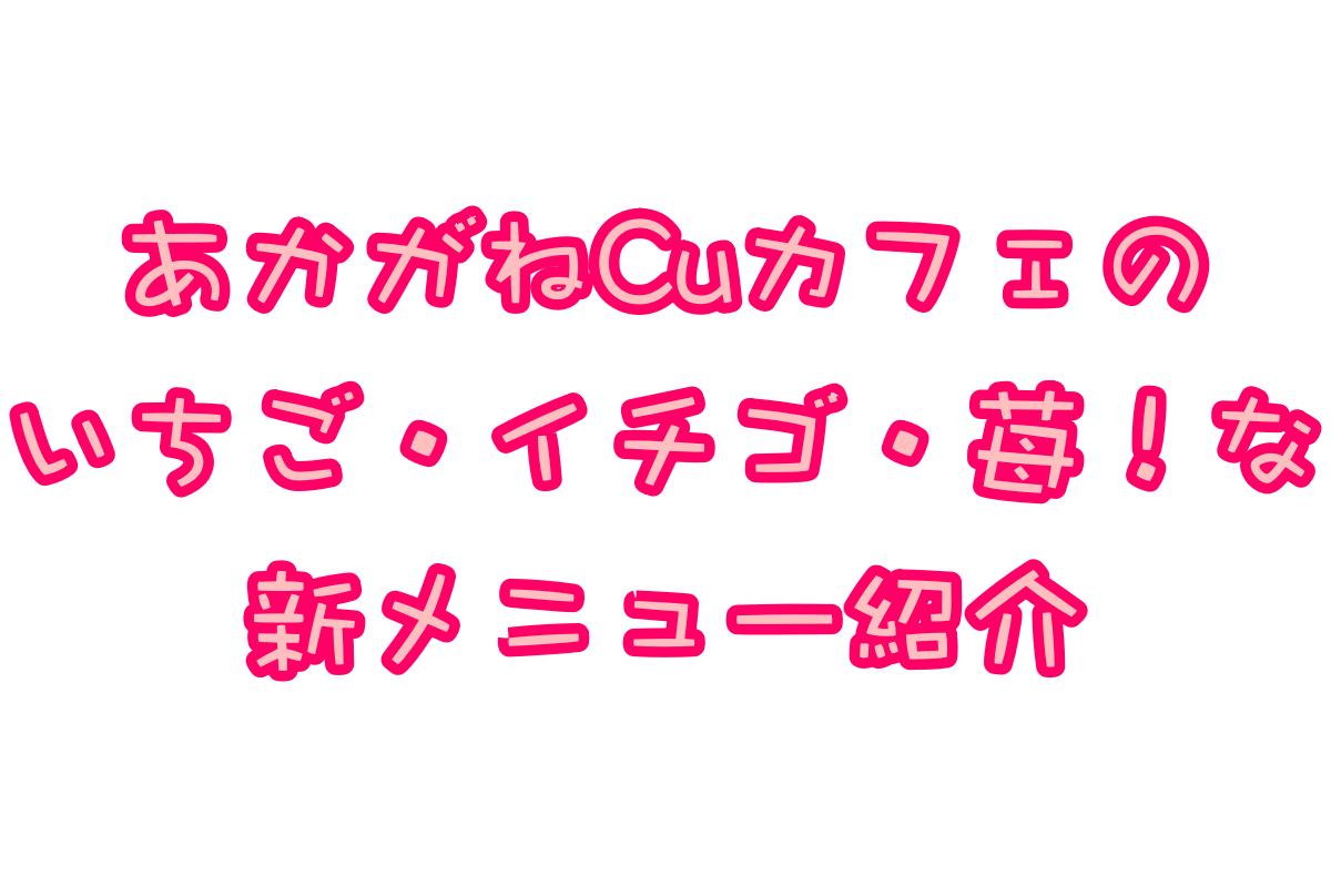 あかがねCuカフェの2019年2月新メニュー紹介! いちご!イチゴ!苺!